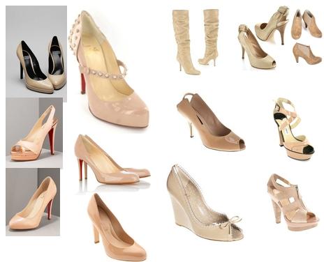 ten rengi tonlarında ayakkabılar