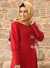 uzun manşetli tesettür kıyafetleri 2013