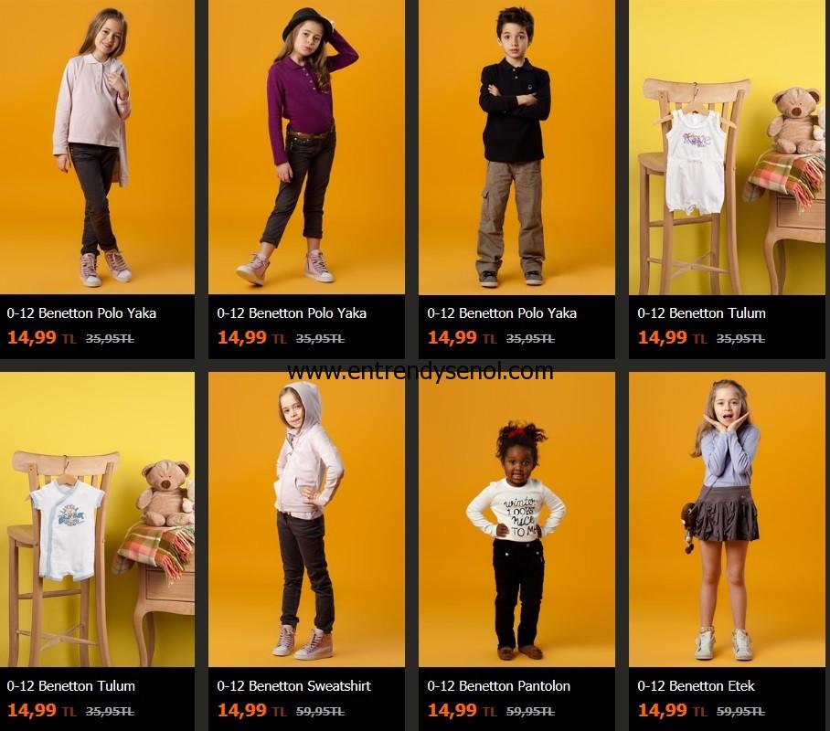 trendyol outlet ürünleri 0-12 benetton bebek çocuk kıyafetleri