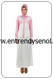 2014 armine giyim tesettür kıyafetleri 4Y3005 PEMBE (1)