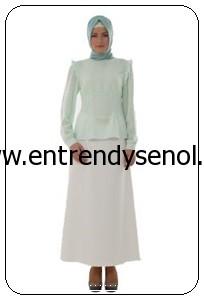 2014 armine giyim tesettür kıyafetleri 4Y3507 MİNT (1)