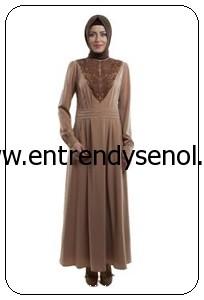 2014 armine giyim tesettür kıyafetleri 4Y9508 VİZON (1)