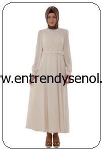 2014 armine giyim tesettür kıyafetleri 4Y9513 EKRU (1)