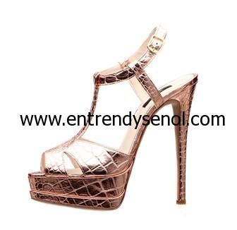 inci deri yüksek topuklu altın ayakkabı modelleri