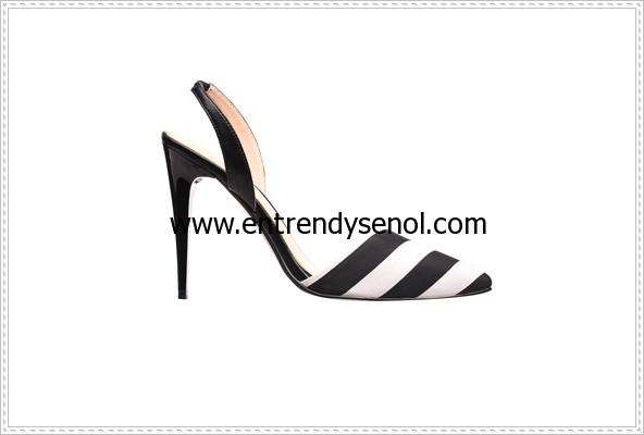 monokrom striped shoes- 191.94 TL