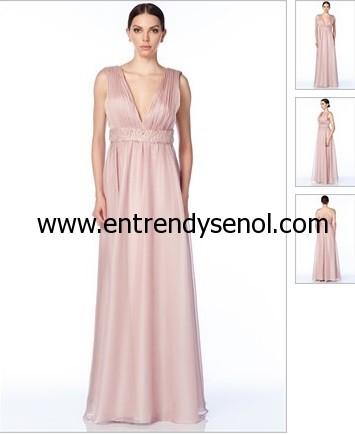 pudra pembesi maksi uzun helenistik mezuniyet elbiseleri fiyatı 495 lira