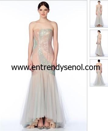straplez mezuniyet elbisesi modelleri 2014