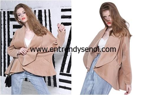 Wide Shawl Collar Drop Shoulder Woman Wool Coat