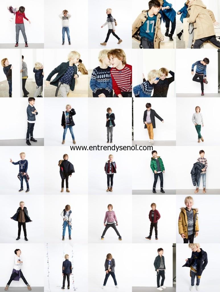 en trend zara kids erkek çocuk kışlık giyim kıyafetleri modelleri 2014 2015